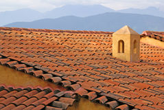 Adobe Roof In Ixtapa Mexico Stock Images