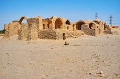 Adobe-Ruinen in Dakhma-Standort, Yazd, der Iran Lizenzfreie Stockfotografie