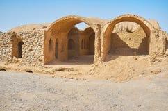 Adobe-Ruinen des Zoroastriankomplexes, Yazd, der Iran Stockfotografie