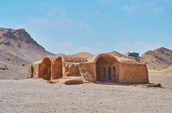 Adobe-Ruinen von altem Khaiele, Yazd, der Iran Lizenzfreies Stockbild