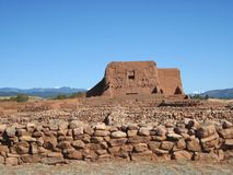 Adobe Ruins #14, Pecos Nat'l Historic Park, NM Stock Image