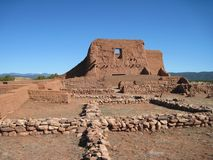 Adobe Ruins #40, Pecos Nat'l Historic Park, NM Stock Photo