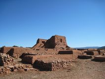 Adobe Ruins #8, Pecos Nat'l Historic Park, NM Stock Photo