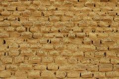 Adobe-Schlamm-Backsteinmauer Stockfotografie