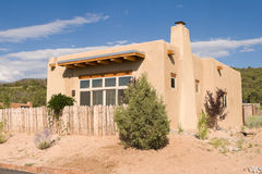 Adobe Single Family Home Suburban Santa Fe NM Royalty Free Stock Photography