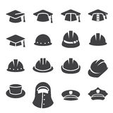 Adobe 8 skapade seten för illustratören för symbolen för hatten för cseps-formatet royaltyfri illustrationer