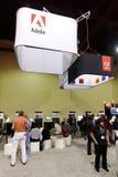 Adobe-Stand bei der Photoshop Weltkonferenz u. -ausstellung Lizenzfreie Stockbilder