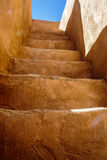 Adobe Steps. Steps, lead up to the second level of an adobe Indian dwelling Royalty Free Stock Photo