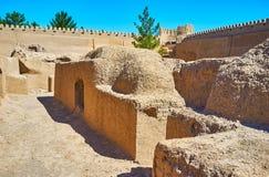 Adobe-Straße von Rayen-Festung, der Iran Lizenzfreie Stockfotografie