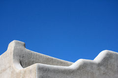 Adobe style building. Adoble style architecture in Santa Fe, New Mexico Royalty Free Stock Image