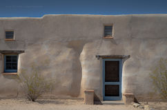 Adobe-style home near old Fort Lowell, in Tucson, Arizona. Stock Image