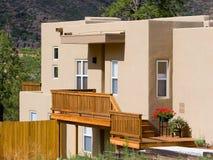 Adobe-style house. Adobe-style dwelling Royalty Free Stock Image