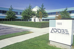 Adobe Systems företags högkvarter, datorprogramvaraproducent i Silicon Valley, Mountain View, Kalifornien Royaltyfri Foto