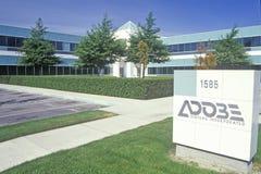 Adobe Systems företags högkvarter, datorprogramvaraproducent i Silicon Valley, Mountain View, Kalifornien Royaltyfri Foto