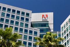 Adobe Systems headquarters in Silicon Valley. SAN JOSE,CA/USA - MAY 11, 2014: Adobe Systems headquarters in Silicon Valley.  Adobe is a multinational software Royalty Free Stock Image