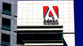 Adobe Systems headquarters in Silicon Valley stock video