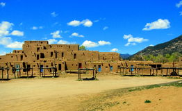 Adobe taos pueblos. Stock Photography