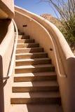 Adobe-Treppenhaus Stockbilder