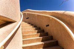 Adobe-Treppenhaus Stockfoto