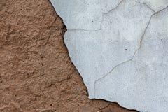 Adobe wal und plasterl eines alten Hauses Lizenzfreies Stockfoto