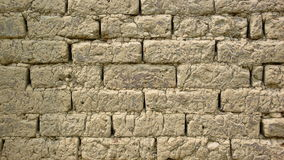 Adobe wall. In ancient times, adobe is the main building materials of Taiwan houses royalty free stock photography