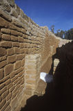 An adobe wall at Cliff Canyon Sun Temple, Mesa Verde, CO Royalty Free Stock Photography