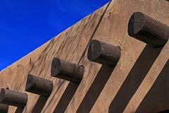Adobe Wall, Santa Fe New Mexico Stock Images