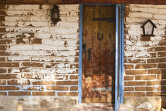 Adobe wall vintage door Royalty Free Stock Photography