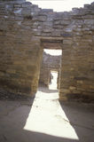 Adobe walls and doorway at the Aztec Indian ruins, La Plata, NM Stock Photos
