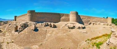 Adobe-Zitadelle in Rayen, der Iran Lizenzfreie Stockfotos