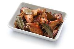 Adobo da galinha e da carne de porco, alimento filipino foto de stock