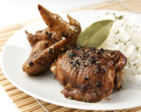 Adobo de poulet Photographie stock libre de droits