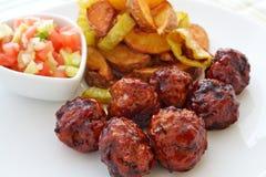 Adobo sauce meatballs Stock Photos