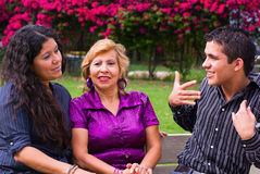 Adolescence and family. Adolescent boy and family genaration Royalty Free Stock Photos