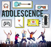 Adolescence Young Adult Youth Culture Lifestyle Concept Stock Image