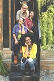 Adolescencia Buddy Cheerful Enjoying Relation Concept de los amigos Imagen de archivo libre de regalías
