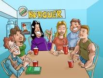 Adolescencias de la hamburguesa Stock de ilustración