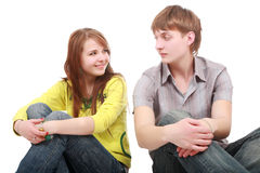 Adolescencias del amor Imágenes de archivo libres de regalías