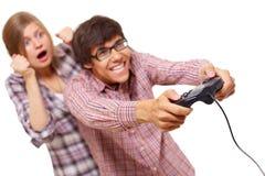 Adolescencias del juego video Imagen de archivo libre de regalías