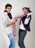Adolescencias en amor Fotografía de archivo libre de regalías