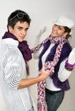 Adolescencias en amor Foto de archivo libre de regalías