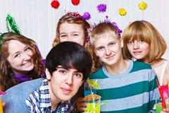 Adolescencias en el partido Imagenes de archivo