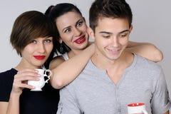 Adolescencias felices que celebran Fotografía de archivo libre de regalías
