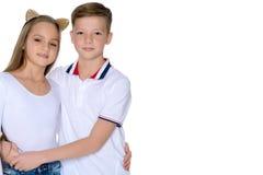 Adolescencias hermano y hermana Imagen de archivo libre de regalías
