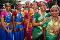 Adolescencias indias fotografía de archivo
