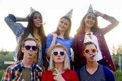 Adolescencias que tienen un partido Imagenes de archivo