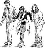 Adolescencias rollerblading Imagen de archivo