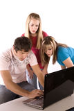 Adolescencias sorprendidas Foto de archivo libre de regalías