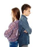 Adolescencias trastornadas de nuevo a la parte posterior Foto de archivo libre de regalías