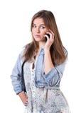 Adolescent au téléphone Images stock